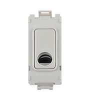 Schneider Electric GET Ultimate Grid Flex Outlet Module (White Metal)