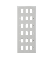 Schneider Electric Ultimate Grid 18 Gang Flush Plate (Painted White)