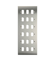 Schneider Electric Ultimate Grid Moulded 18 Gang Flush Plate (Stainless Steel)