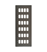 Schneider Electric Ultimate Grid  24 Gang Flush Plate (Black Nickel)