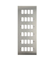 Schneider Electric Ultimate Grid  24 Gang Flush Plate (Stainless Steel)