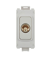 Schneider Electric Ultimate Grid Single TV/FM Coaxial Module (White Metal)