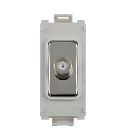 Schneider Electric GET Ultimate Grid Single Satellite Module (Polished Chrome)