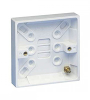 Schneider Electric GET Exclusive 16mm 1 Gang Surface Pattress Box (White)