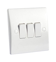 Schneider Electric GET Ultimate 3 Gang 2 Way 10A Switch (White)