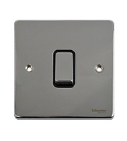 Schneider Electric GET Ultimate Flat Plate 1 Gang 2 Way Switch (Chrome)