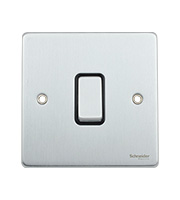 Schneider Electric GET Ultimate Flat Plate 1 Gang 2 Way Switch (Stainless Steel)