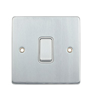 Schneider Electric GET 1 Gang 2 Way Retractive Switch (Polished Chrome)