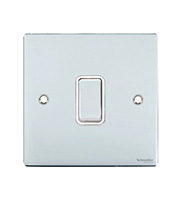 Schneider Electric GET 1 Gang 2 Way 10AX Switch (Polished Chrome)