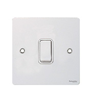 Schneider Electric GET Ultimate Flat Plate 1 Gang 2 Way Switch (White)