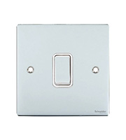 GET Ultimate Flat Plate 1 Gang Intermediate Switch (Polished Chrome)