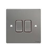Schneider Electric GET Ultimate 2G 2 Way 10AX Flat Plate (Black Nickel)