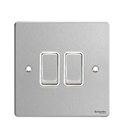Schneider Electric GET Ultimate 2G 2 Way Switch (Stainless Steel)