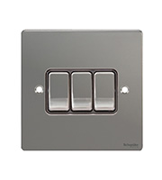Schneider Electric GET Ultimate 3G 2 Way Switch (Black Nickel)