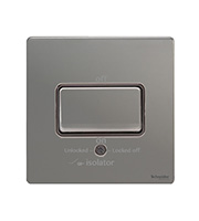 Schneider Electric Screwless Fan Isolator Switch (Black Nickel)