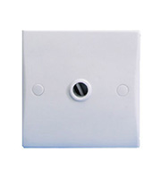 Schneider Electric GET Ultimate 20A Front Entry Flex Outlet Plate (White)