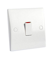 Schneider Electric GET Ultimate 20A Double Pole Switch (White)