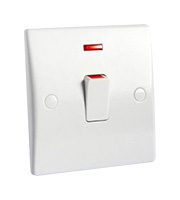 Schneider Electric GET Ultimate 20A Double Pole Switch with Neon (White)