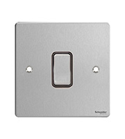 Schneider Electric GET Ultimate Flat Plate 20AX Switch (Stainless Steel)