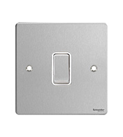 Schneider Electric GET Ultimate Flat Plate 20AX DP Switch (Stainless Steel)