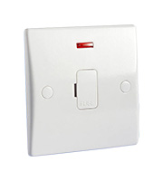 Schneider Electric GET Ultimate 13A Unswitched Fused Spur & Neon (White)