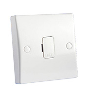 Schneider Electric GET Ultimate 13A Unswitched Fused Spur with Flex Outlet (White)
