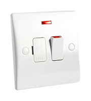 Schneider Electric GET Ultimate 13A DP Switched Spur with Neon (White)