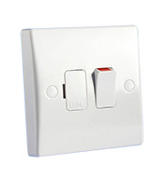 Schneider Electric GET Ultimate 13A DP Switched Spur with Flex Outlet (White)