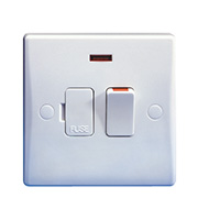 Schneider Electric 13A DP Switched Spur with Neon & Flex Outlet (White)