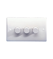 Schneider Electric GET Ultimate 3G 2W 250W Dimmer Switch (White)