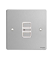 Schneider Electric Flat Plate 1G 2 Way 300W/VA Electronic Dimmer Switch (Stainless Steel)