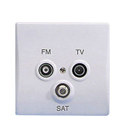 Schneider Electric GET Ultimate 1G Triplex Outlet TV/FM/SAT (White)