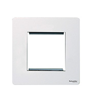 Schneider Electric GET Ultimate Screwless Flat Plate 2G Euro Modular Plate (White)