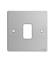 Schneider Electric GET Ultimate 1 Gang Cover Plate (Stainless Steel)