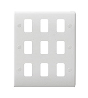Schneider Electric GET Ultimate 9 Gang Grid Plate (White)