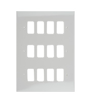 Schneider Electric Ultimate Grid Moulded 12 Gang Flush Plate (White)