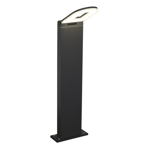 Searchlight Aluminium Ip44 Grey Led Outdoor Bollard Light, Frosted Polycarbonate Diffuser