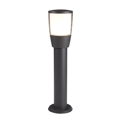 Searchlight Dark Grey Aluminium Tucson Outdoor 1 Post Light, Polycarbonate
