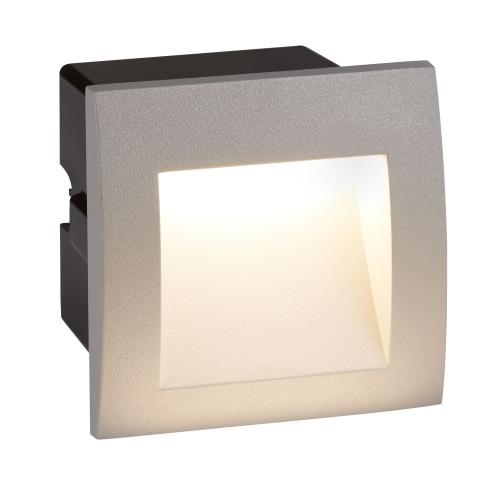 Searchlight Die Cast Aluminium Led Indoor/outdoor Recessed Square, Wb Grey