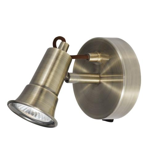 Searchlight Eros Antique Brass 1 Light Wall Spotlight