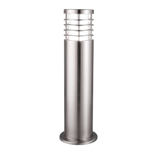 Searchlight Satin Silver Ip44 Outdoor Bollard Light With Polycarbonate Diffuser