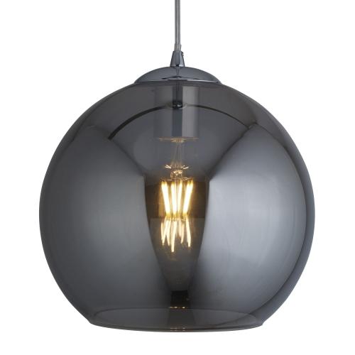 Searchlight Balls 1 Light Round Pendant (25cm Dia), Smoked Glass, Chrome
