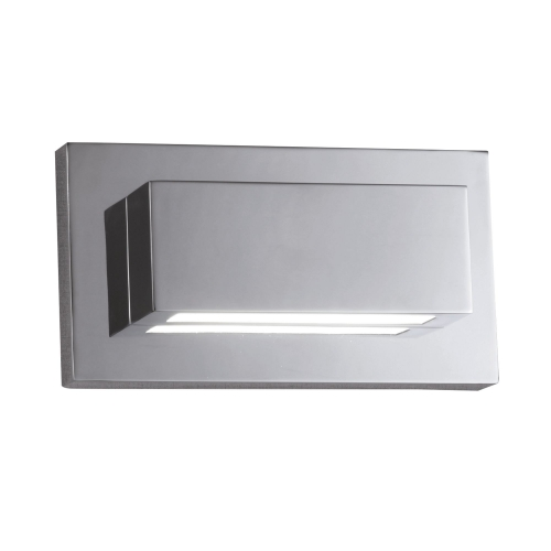 Searchlight Chrome 2 Led Oblong Wall Light With Up & Down Light