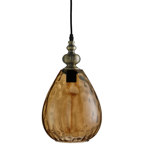 Searchlight Indiana Antique Brass Pendant Light With Dimpled Glass Shade SALE ITEM
