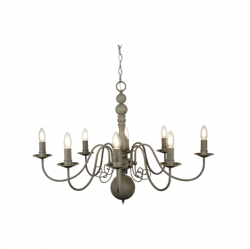 Searchlight Greythorne Steel 8 Light Fitting With Textured Grey Finish