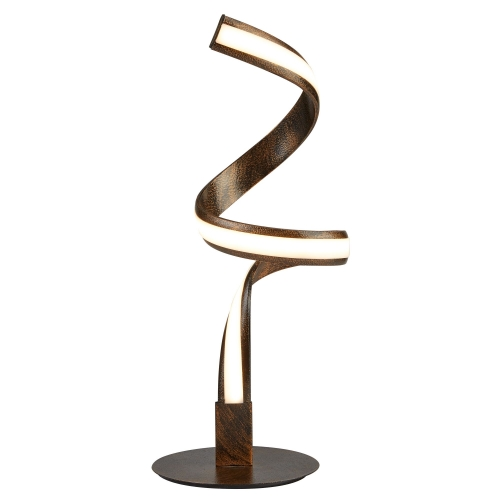 Searchlight Led Twist Table Lamp, Rustic Brown/gold