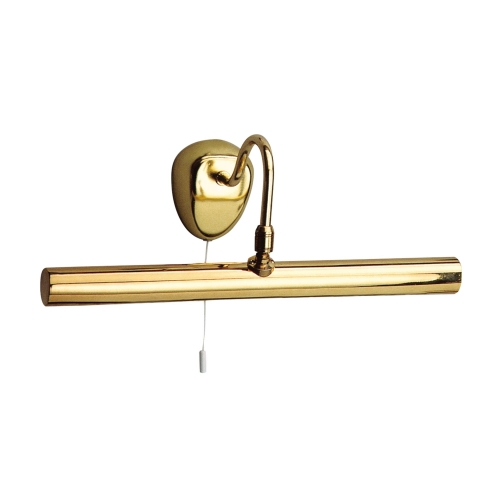 Searchlight Polished Brass 2 Light Picture Light With Adjustable Knuckle Joint