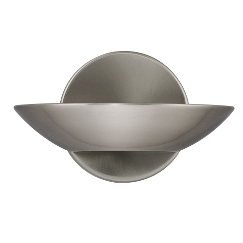 Searchlight Led Uplight Wall Bracket, Satin Silver, Frosted Glass
