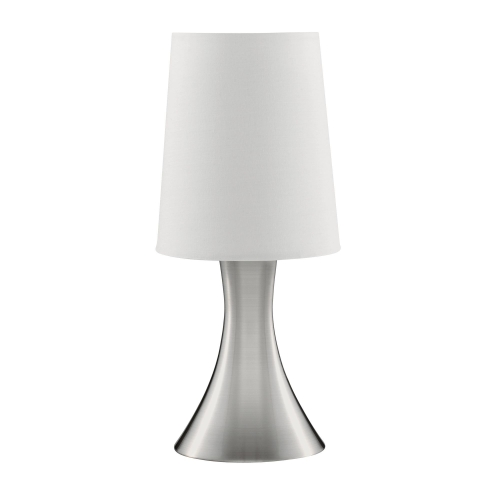 Searchlight Satin Silver Touch Table Lamp