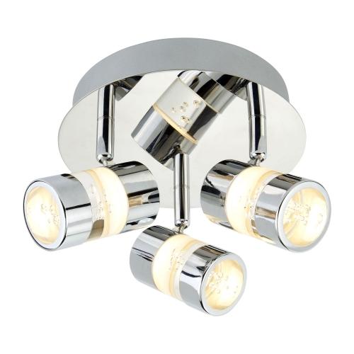 Searchlight Bubbles Ip44 Chrome 3 Led Ceiling Spotlight Acrylic Bubbles. Bathroom Use.